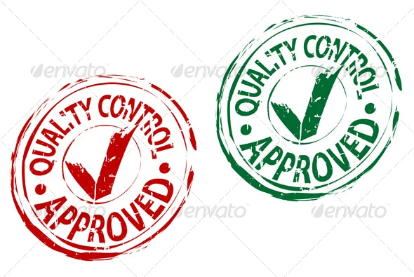 Check approved stamps - Decorative Vectors