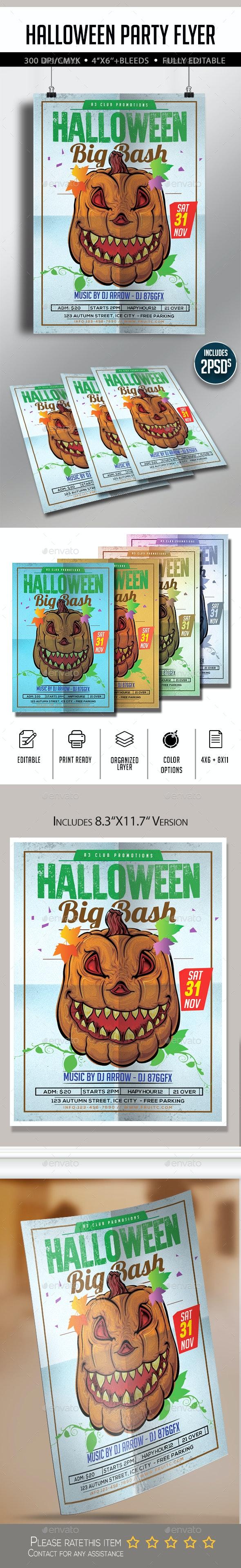 Halloween Flyer A4 - Flyers Print Templates
