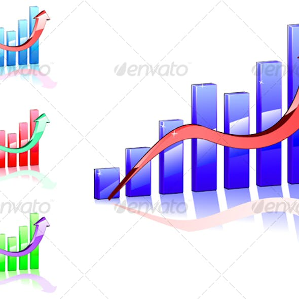 Color graph for business concept