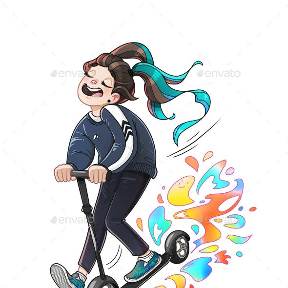 Scooting Girl