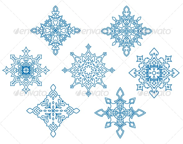 Set of snowflakes - Decorative Symbols Decorative