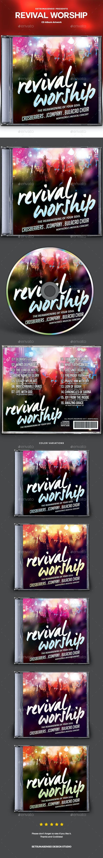 Revival Worship CD Album Artwork - CD & DVD Artwork Print Templates