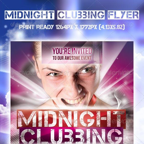 Midnight Clubbing Flyer