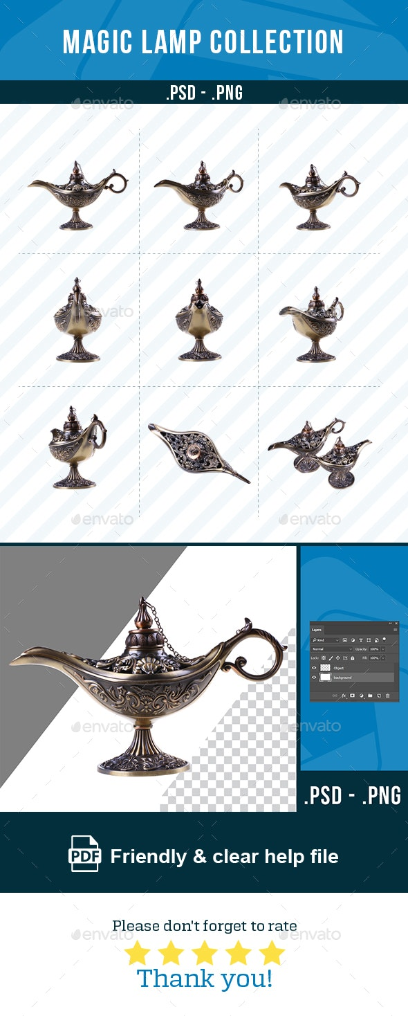 Magic Lamps Collection - Home & Office Isolated Objects