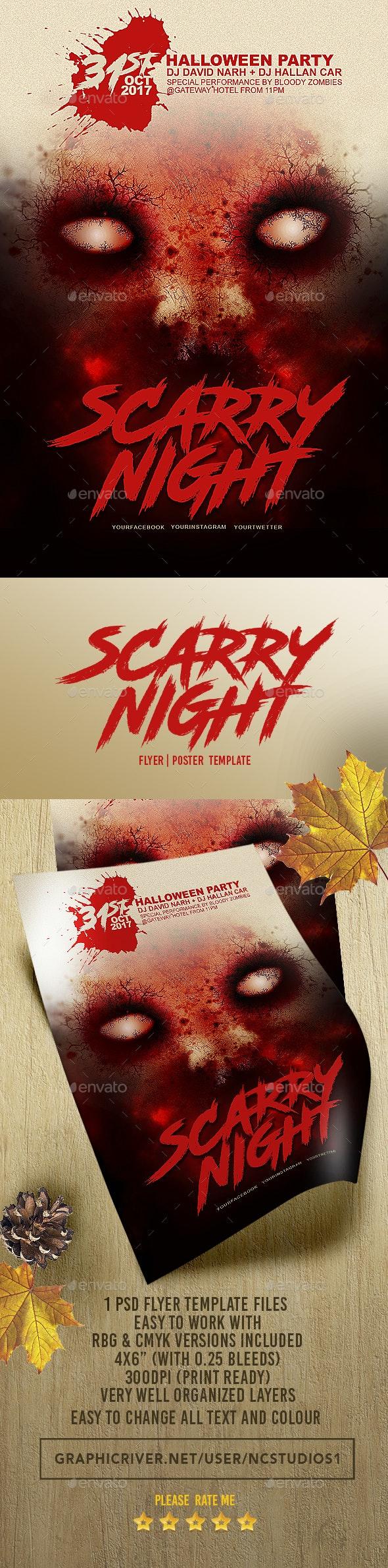 Halloween Flyer Template 3 - Flyers Print Templates