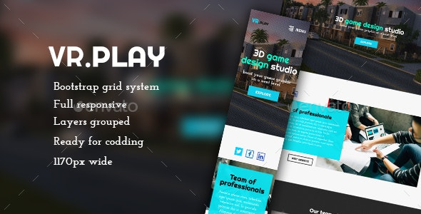 Vrplay - One Page / Landing Web Template - User Interfaces Web Elements