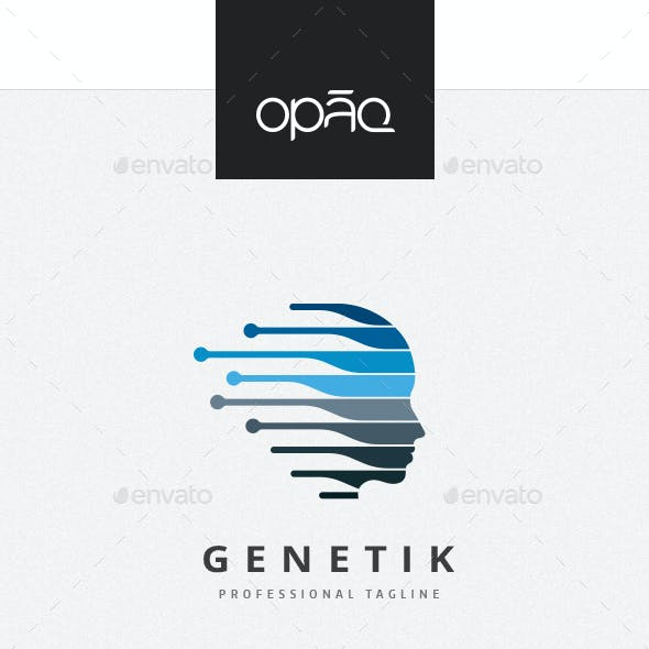 Genetic Human Profile Logo