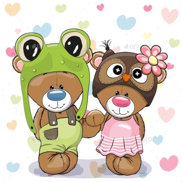 Two Bears - Animals Characters