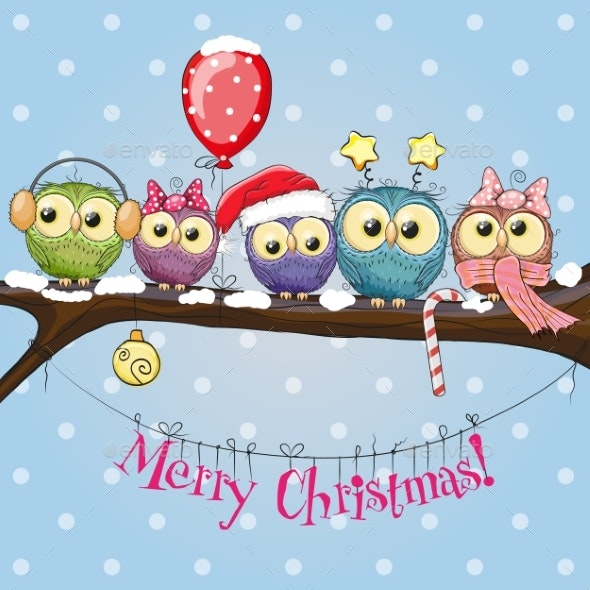 Five Owls - Animals Characters