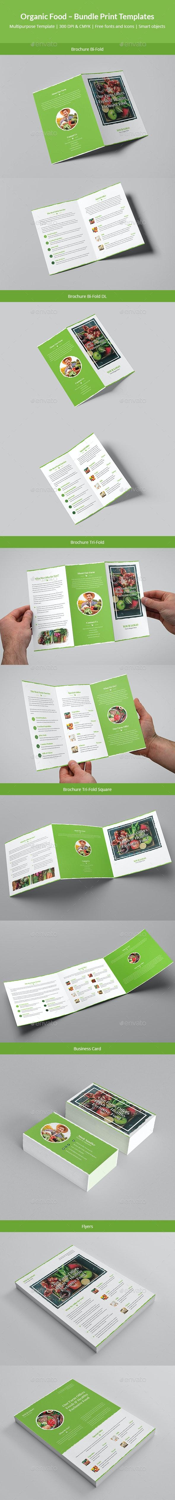Organic Food – Bundle Print Templates - Informational Brochures