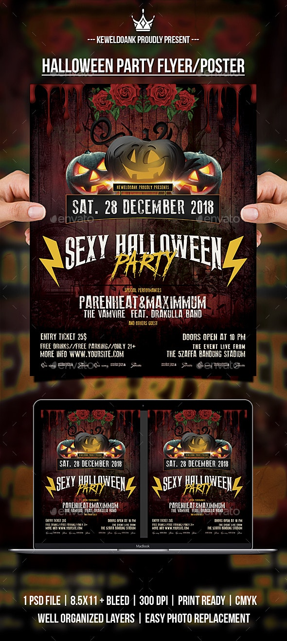 Halloween Party flyer / Poster - Events Flyers