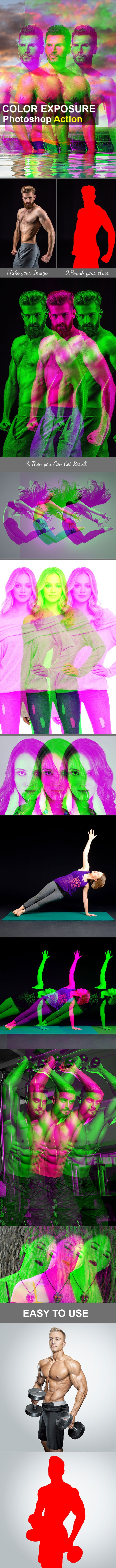 Color Exposure Photoshop Action - Photo Effects Actions