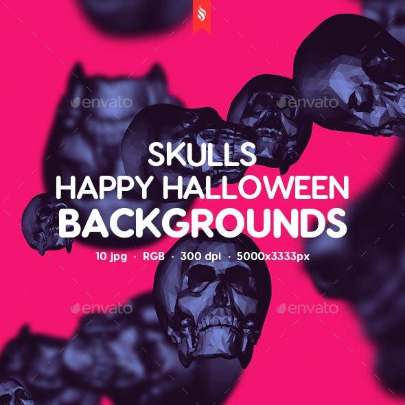 Skulls - Happy Halloween Backgrounds