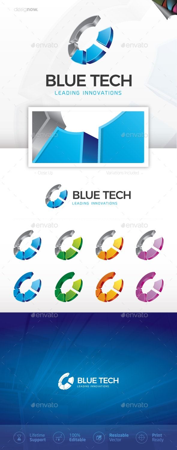 Blue Tech Logo - Company Logo Templates
