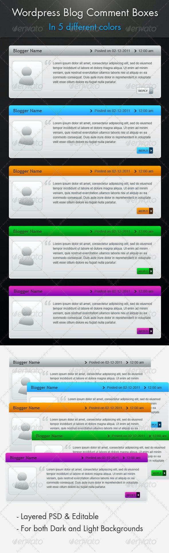 ----- Wordpress Blog Comment Boxes ------ - Miscellaneous Web Elements