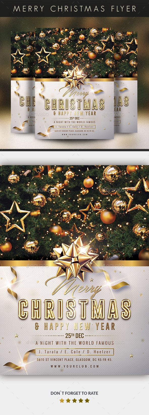 Merry Christmas & Happy New Year Flyer - Events Flyers