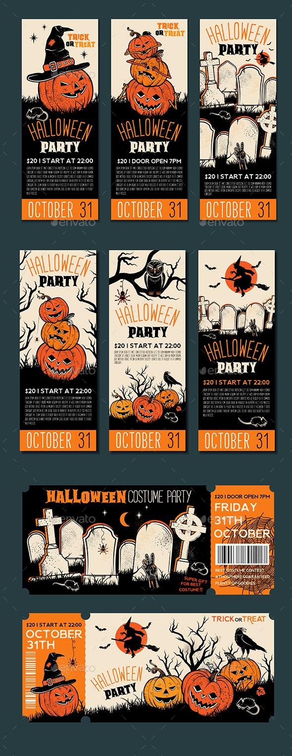 Halloween Banner Template - Halloween Seasons/Holidays