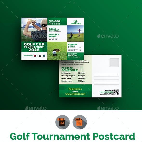 Golf Tournament Postcard