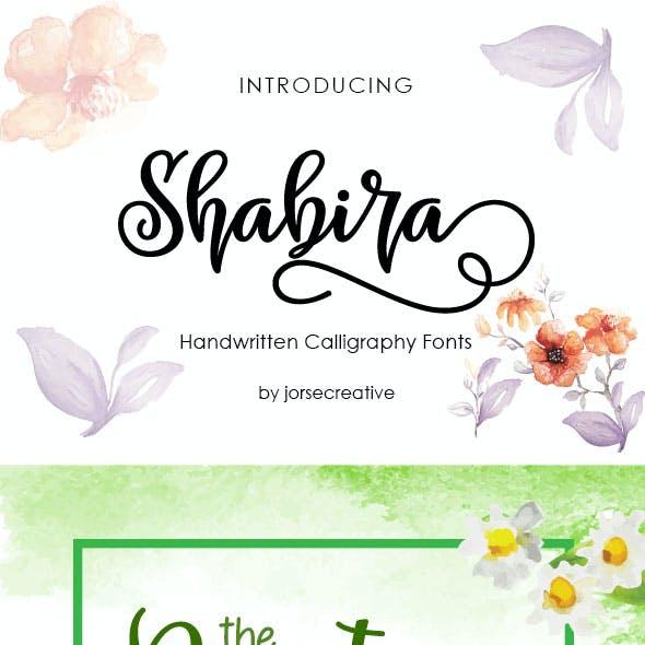 Shabira Font Script