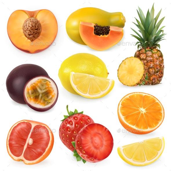 Juicy Ripe Sweet Fruit - Food Objects