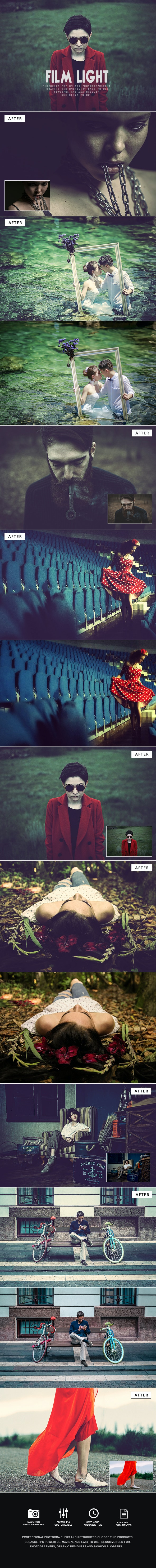 Film Light Photoshop Action - Photo Effects Actions