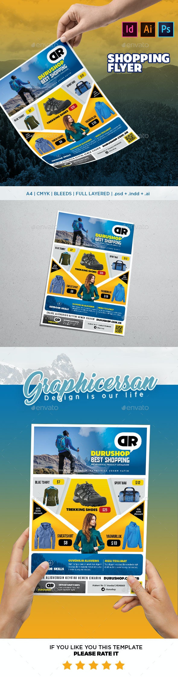 Shopping Flyer Template - Commerce Flyers