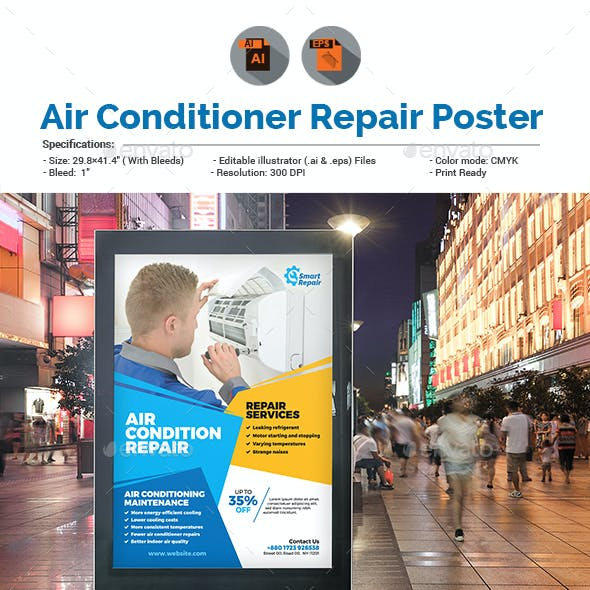 Air Conditioner Repair Service Poster