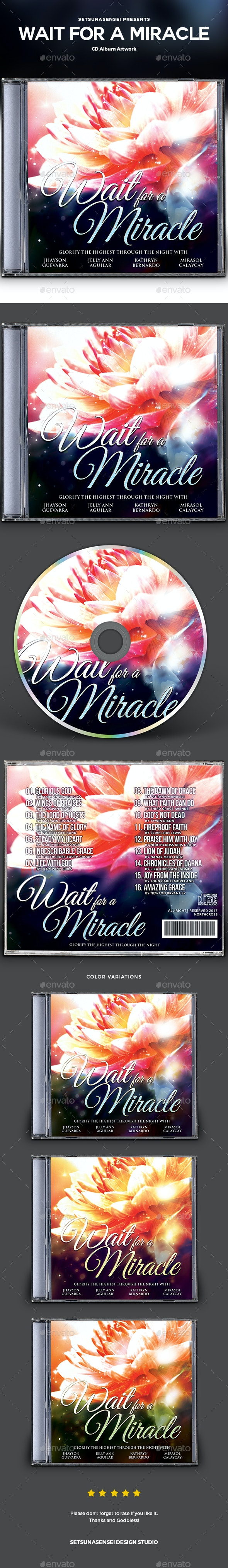 Wait for a Miracle CD Album Artwork - CD & DVD Artwork Print Templates
