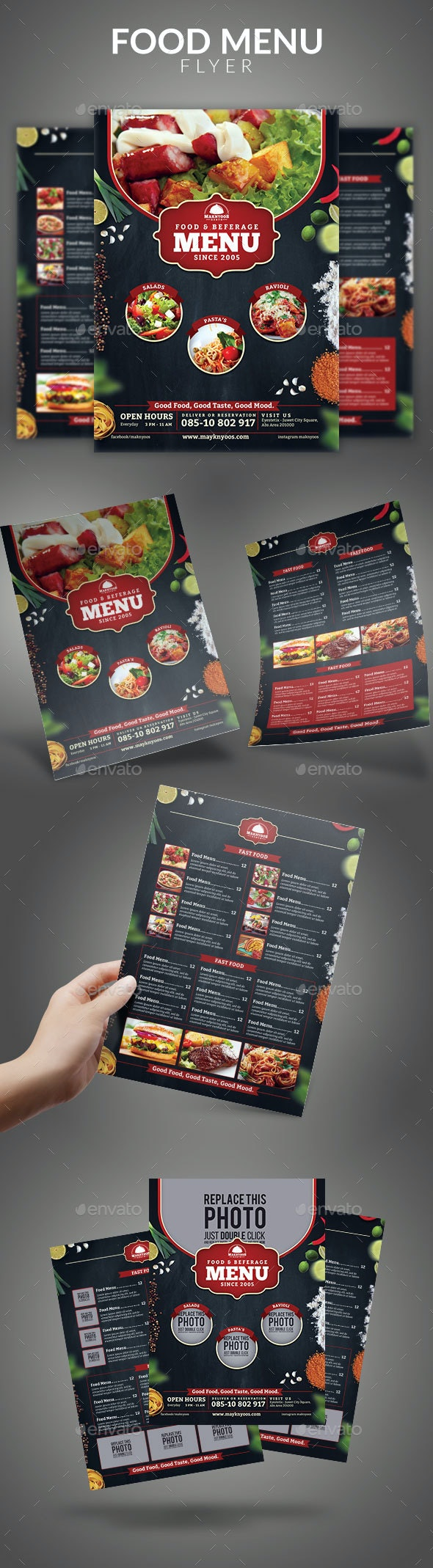 Food Menu Flyer - Food Menus Print Templates