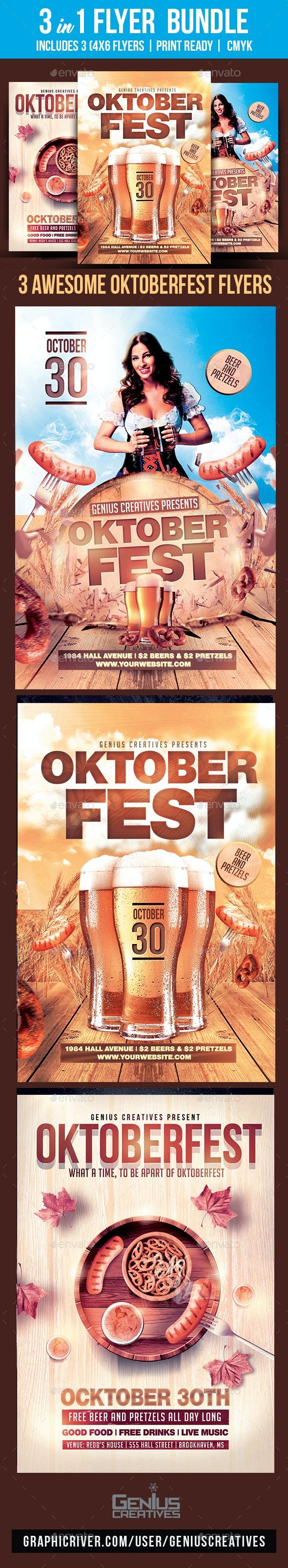 Oktoberfest Flyer Bundle - Holiday Greeting Cards