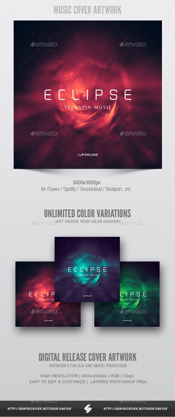 Eclipse - Music Cover Artwork Template - Miscellaneous Social Media