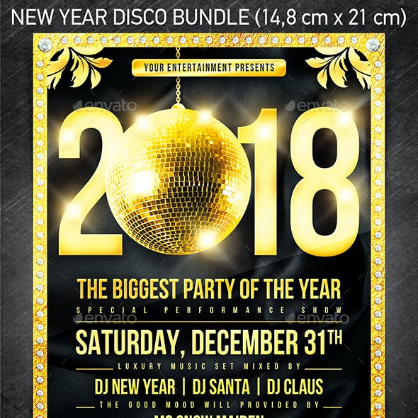 New Year Disco Flyer Bundle