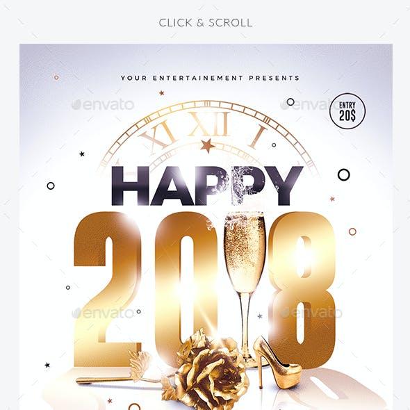 Classy New Year   Invitation