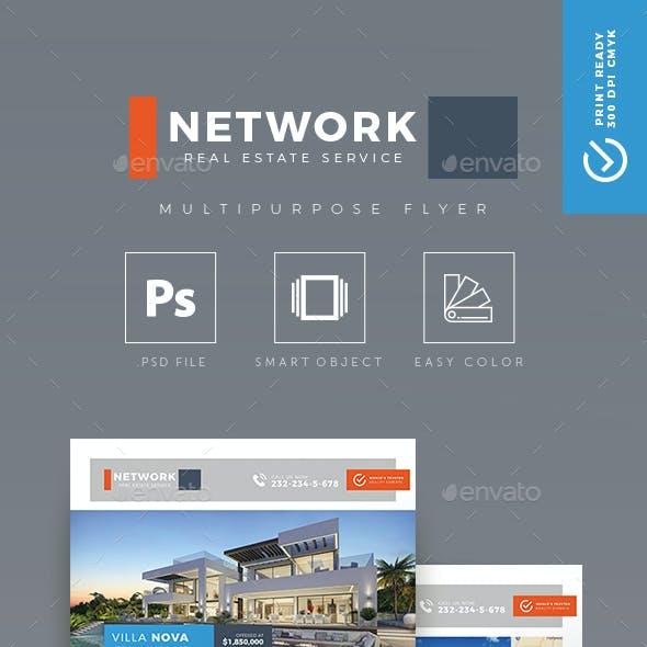 Network - Creative Real Estate Flyer