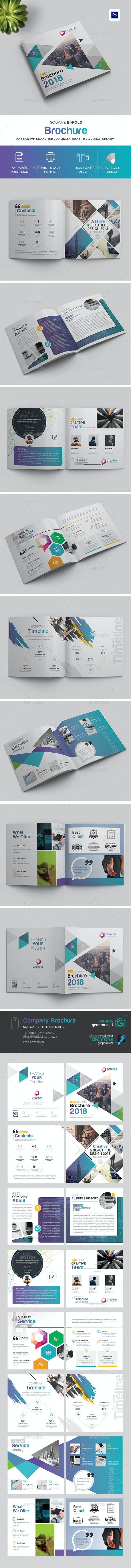 2018 Square Bi-Fold Brochure - Brochures Print Templates