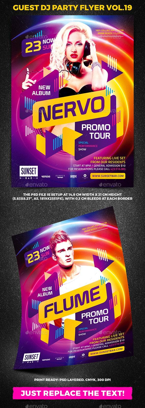 Guest DJ Party Flyer vol.19 - Clubs & Parties Events