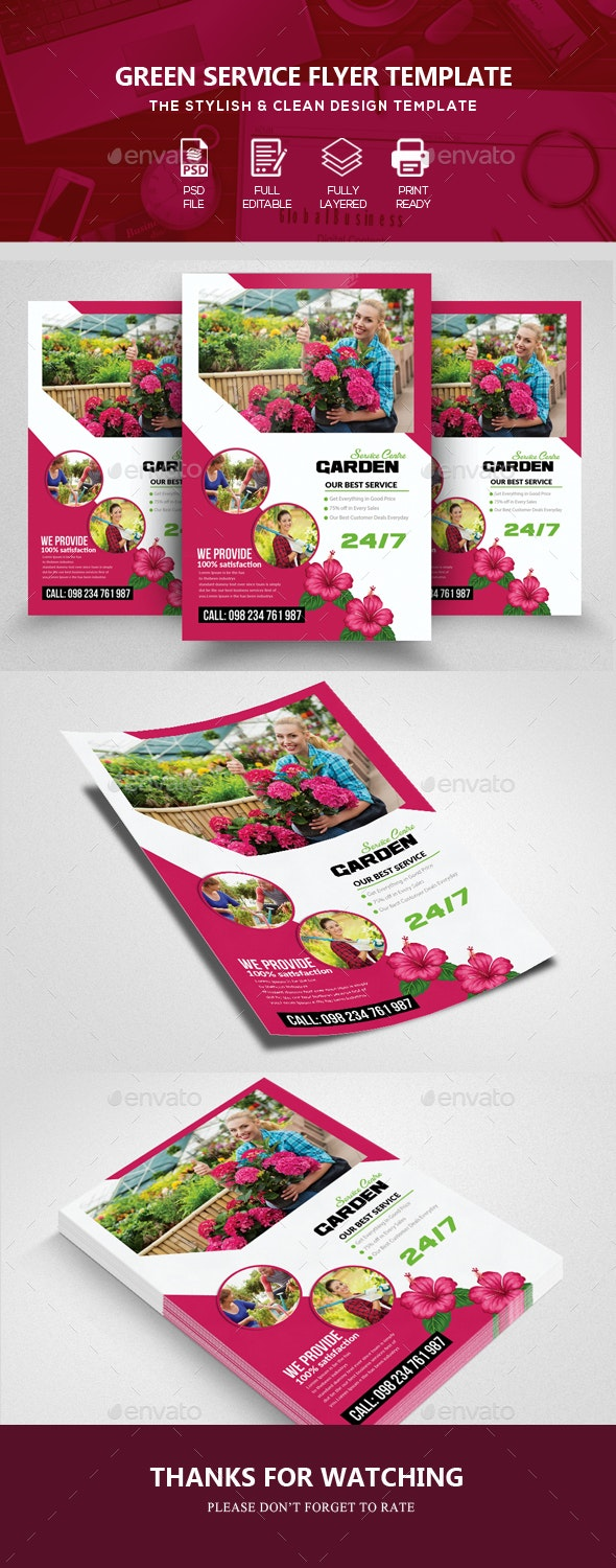 Gardening Service Flyer - Corporate Flyers