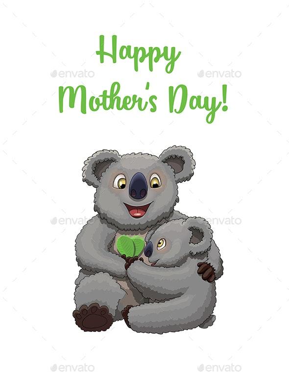 Happy Mother's Day Koalas - Miscellaneous Seasons/Holidays