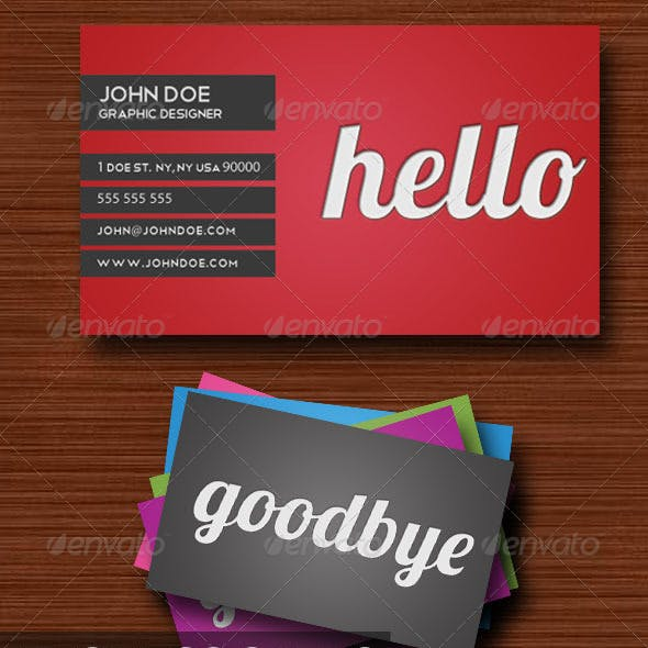 Hello Business Card (6 colors)