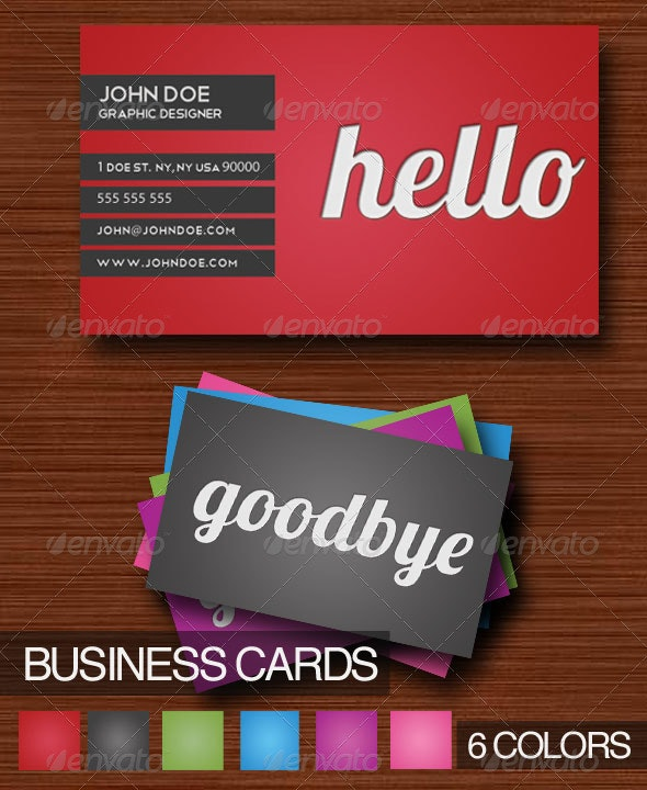 Hello Business Card (6 colors) - Corporate Business Cards