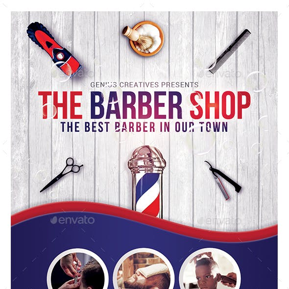 Barber Shop Flyer Template v3