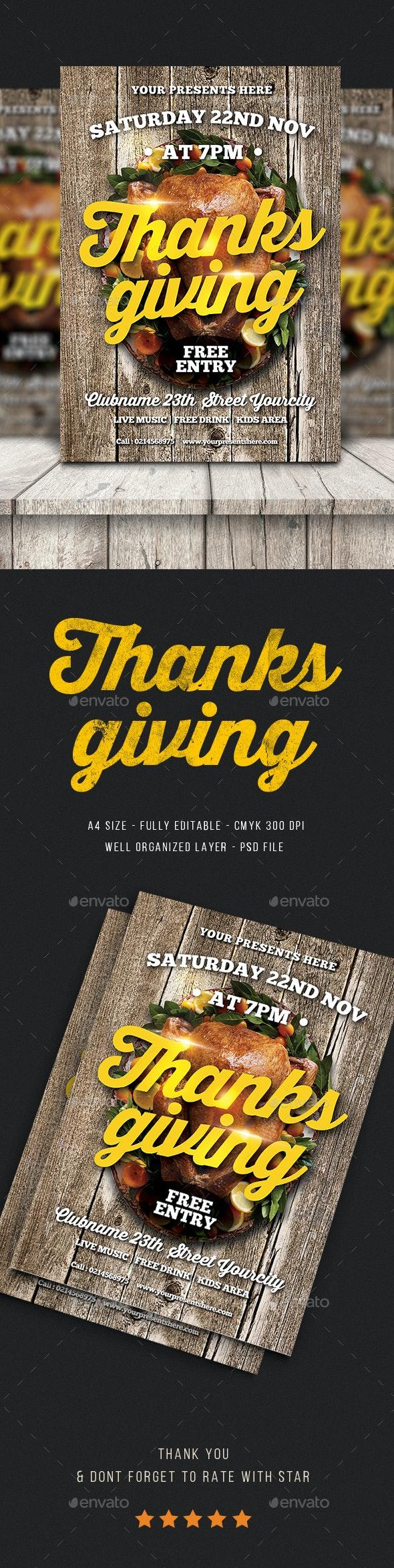 Thanksgiving Flyer - Flyers Print Templates