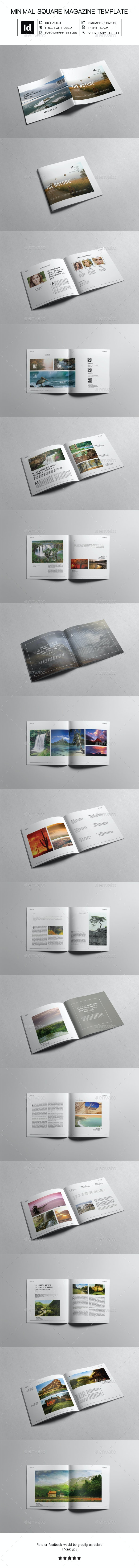 Minimal Square Magazine Template III - Magazines Print Templates