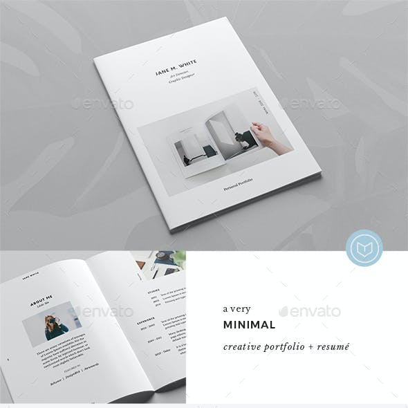 The Minimal Portfolio - Creative A5 Booklet with Resume
