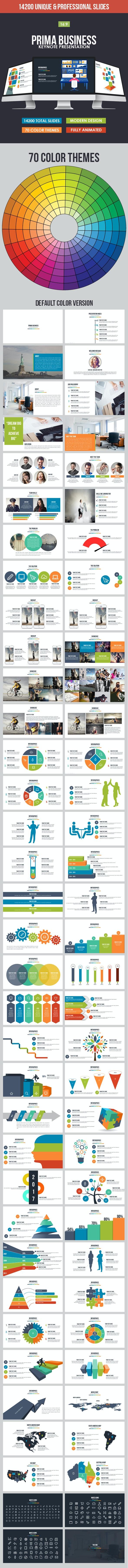 Prima Business Keynote Template - Business Keynote Templates