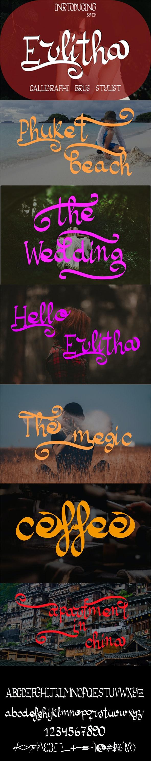 Erlitha - Script Fonts