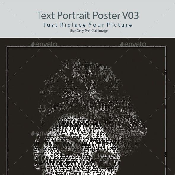 Text Portrait Poster V03