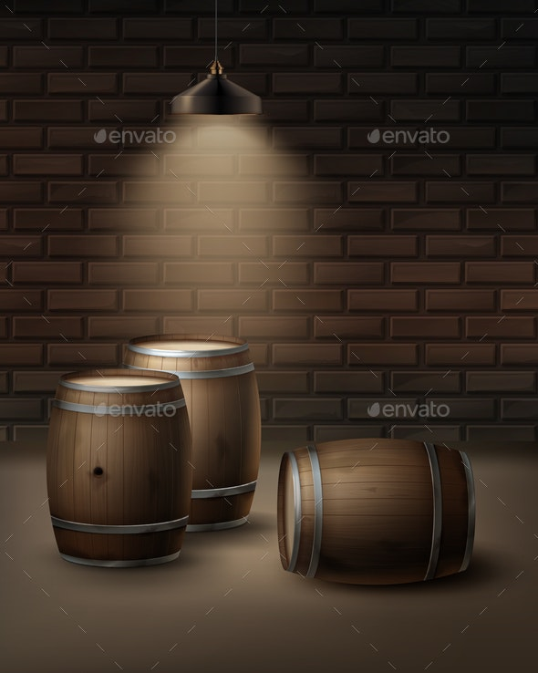 Vector Wooden Barrels - Miscellaneous Vectors