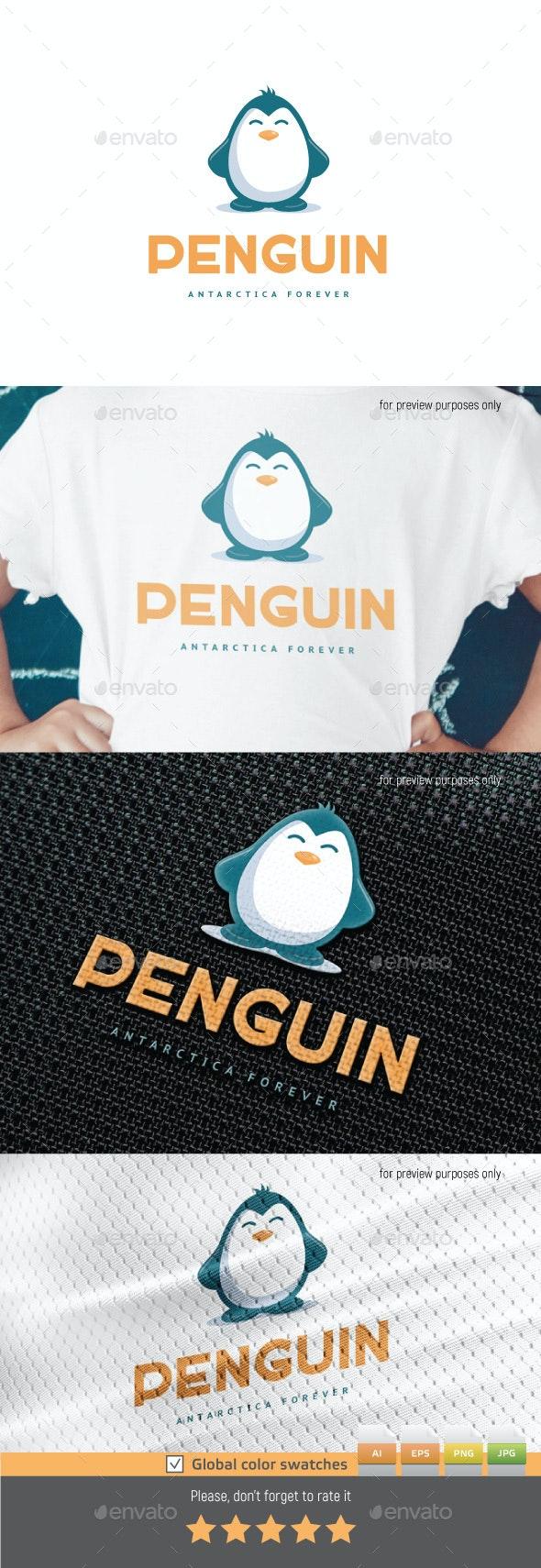 Penquin Logo - Animals Logo Templates