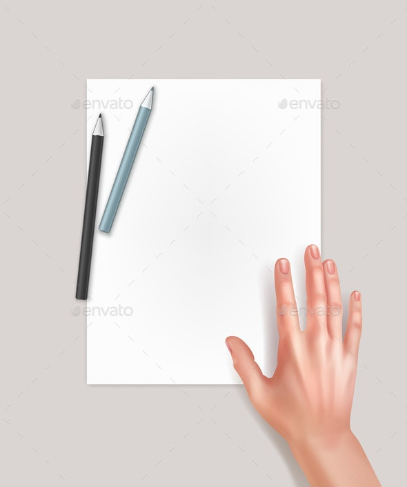 Hand with Paper - People Characters